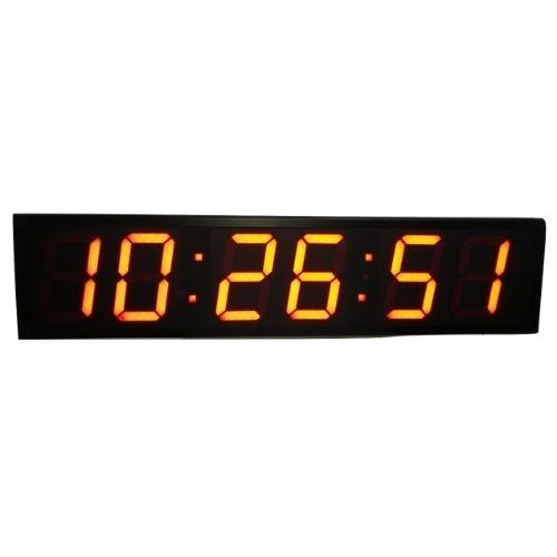 שעון קיר דיגיטלי חשמלי ענק בצבע צהוב למסעדות ועסקים