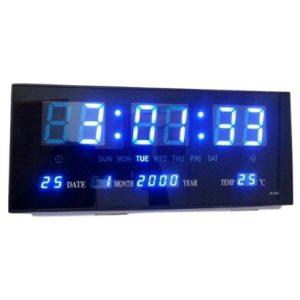 שעון קיר דיגיטלי חשמלי ענק בצבע כחול למסעדות ועסקיםساعة حائط رقمية كهربائية ضخمة زرقاء للمطاعم والشركات