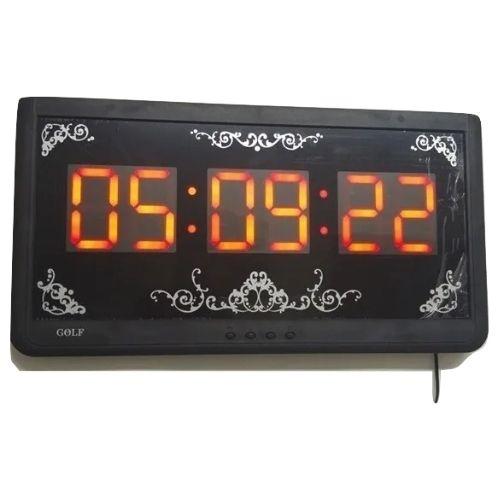שעון קיר דיגיטלי חשמלי ענק בצבע כתום למסעדות ועסקיםساعة حائط رقمية كهربائية ضخمة باللون البرتقالي للمطاعم والشركات