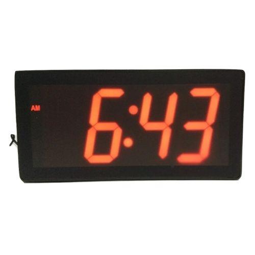 שעון קיר דיגיטלי חשמלי ענק בצבע כתום למסעדות ועסקים