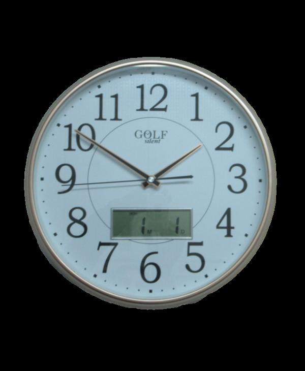 2943 שעון קיר אנלוגי עם צג דיגיטלי