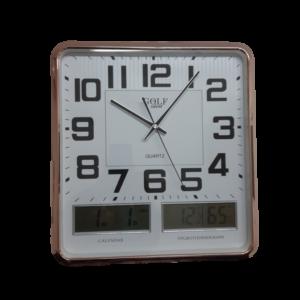 שעון קיר אנלוגי עם צג דגיטלי 3041-1