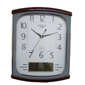 שעון קיר אנלוגי עם צג דיגיטלי