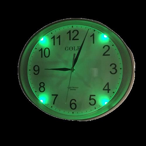 663 סנסור שעון קיר זוהר בחושך בלילה