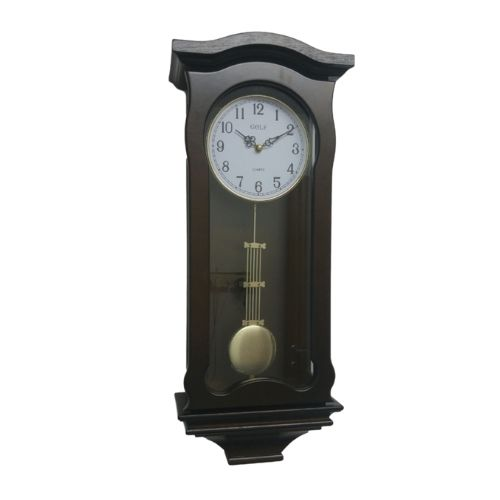 9243 שעון קיר מטוטלת וינטג', מנגן Винтажные настенные часы с маятником, марганец