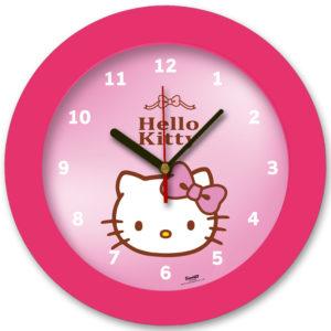 98105-HK3 שעון קיר מחוגים לילדים הלו קיטי