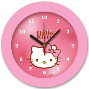 98105-HK שעון קיר מחוגים לילדים הלו קיטי