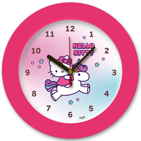 98105-HK unicorn2 שעון קיר מחוגים לילדים חד קרן