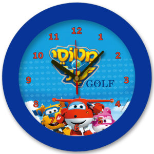 98105-ma1 שעון קיר מחוגים לילדים מטוסי על