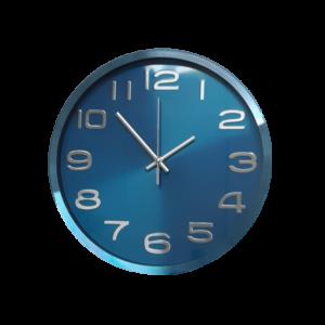 שעון קיר בעיצוב אלומיניום גוון כחול BM1C