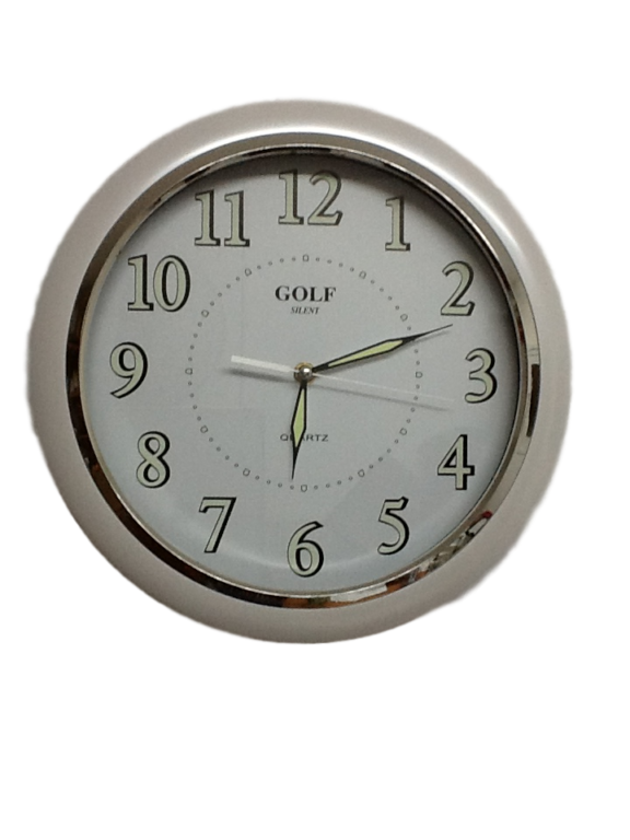 שעון קיר זוהר בחושך מדגם GOLF SILENT שקט JQL-1