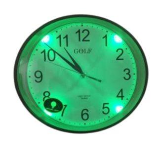 ws663 שעון קיר זוהר בחושך לילדים ולתאורה ירוקה נעימה בחדר ותצוגת מחוגים ברורה
