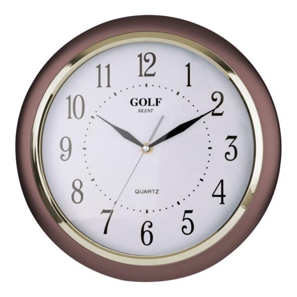 שעון קיר מדגם גולף שקט SILENT JQ-1700-BROWN