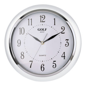 שעון קיר מדגם גולף שקט SILENT JQ-1700-PEARL