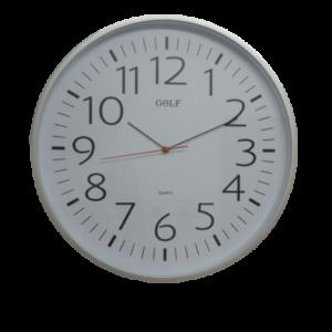 שעון קיר ענק כסוף לבית כנסת ואולמות מדגם גולף L275-2