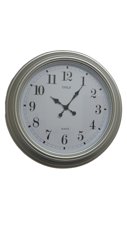 שעון קיר ענק כסוף ומהודר לבית כנסת מדגם גולף L601-2