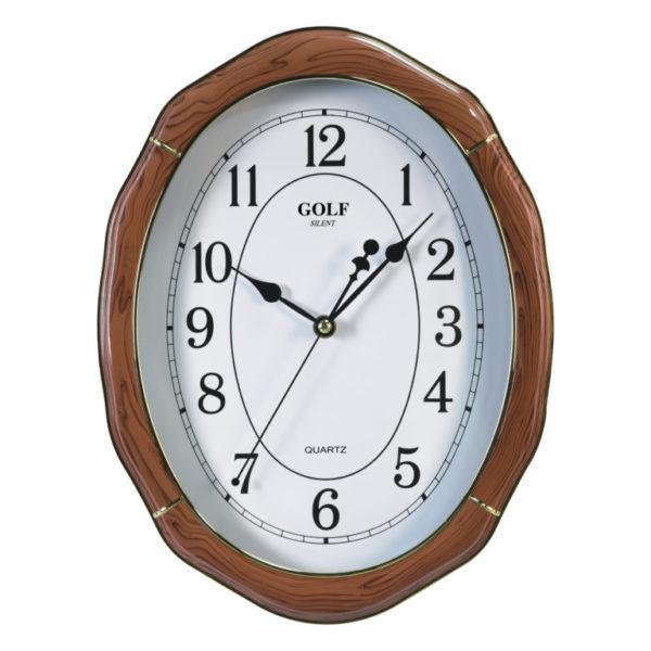 שעון קיר מדגם גולף שקט SILENT LU-1700-3