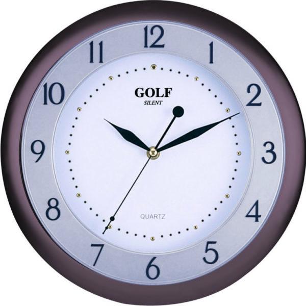 שעון קיר מדגם גולף שקט SILENT LW-1700 brown
