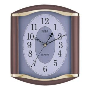 שעון קיר מדגם גולף שקט LZ-1700-brwon