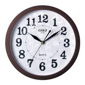 שעון קיר שקט מדגם גולף MQ-1700-brown