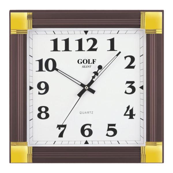 שעון קיר מדגם גולף מרובע מפואר MZ-1700-brown