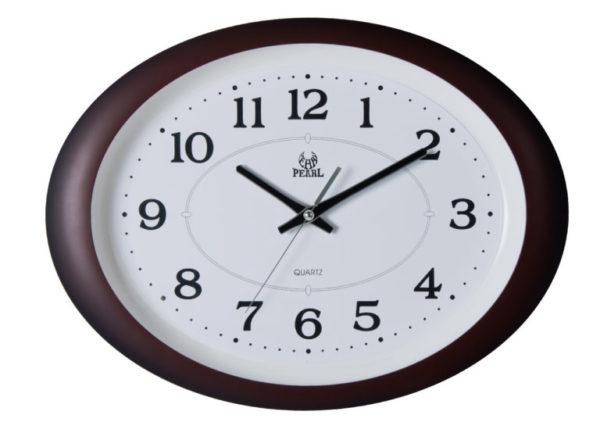 שעון קיר שקט מדגם גולף חום PW032-1700-brown