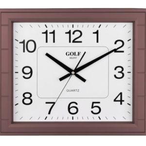 שעון קיר שקט מרובע חום PW033-1700-brown
