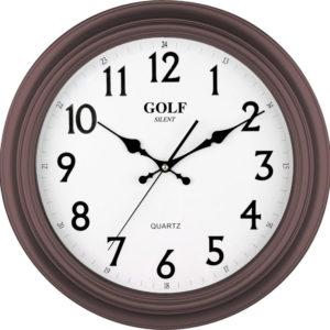 שעון קיר מדגם גולף קלאסי שקט חום PW034-1700-brwon