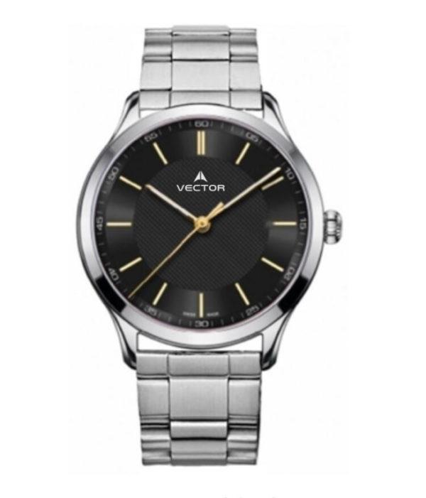 שעון יד מדגם VECTOR V8-109413 black1, שעון יד מטאל עם רקע שחור נקי לגבר Престижные наручные часы от Golf Watches. Бренд vector для роскошных наручных часов в Израиле