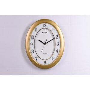 שעון קיר דגם גולף שקט צבע זהב MG-1700 Gold