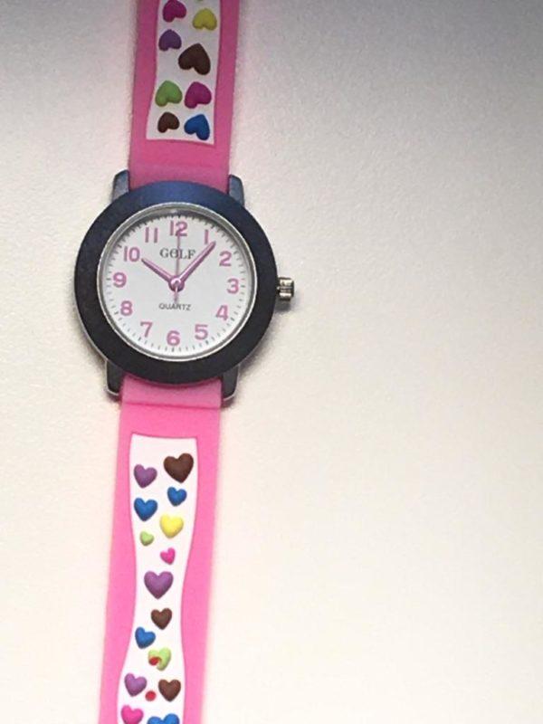 שעון יד לבנות לבבות עוגה מבית גולף - קולקציית קיץ 2020 - דגם SUM20HC05