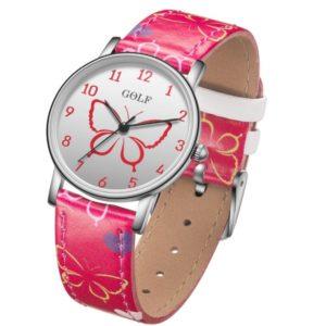 שעון יד לילדות במית גולף שעונים דגם גלידה בצבע אדום-2020-07-15-08-51-18 Гольф наручные часы для девочек, красные часы с мороженым