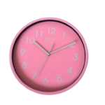 CLKSPL01P שעון קיר קלאסי מבית גולף - צבע ורוד נעים לקיר החדר