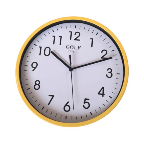 BASICCLK02Y שעון קיר צהוב קלאסי