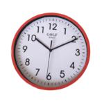 CLKSPL04RED שעון קיר קלאסי מבית גולף - צבע אדום נעים לקיר החדר
