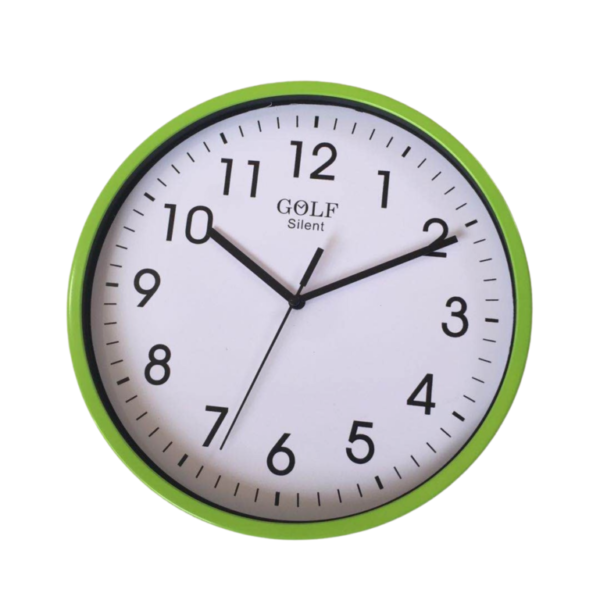 CLKSPL05GR שעון קיר קלאסי מבית גולף - צבע ירוק נעים לקיר החדר