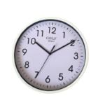 CLKSPL07WH שעון קיר קלאסי מבית גולף - צבע לבן נעים לקיר החדר