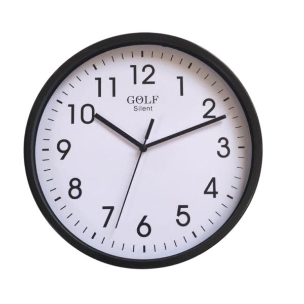 CLKSPL08BL שעון קיר קלאסי מבית גולף - צבע שחור נעים לקיר החדר