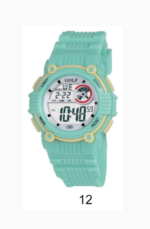 GR203Lשעון יד בגוון ירוק לילדים מדגם גולף