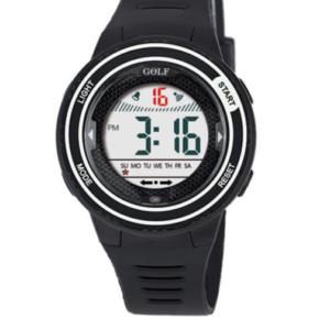 8563121BLR שעון יד שחור בעיצוב עגול ומסגרת כסופה לילדים, מדגם גולף