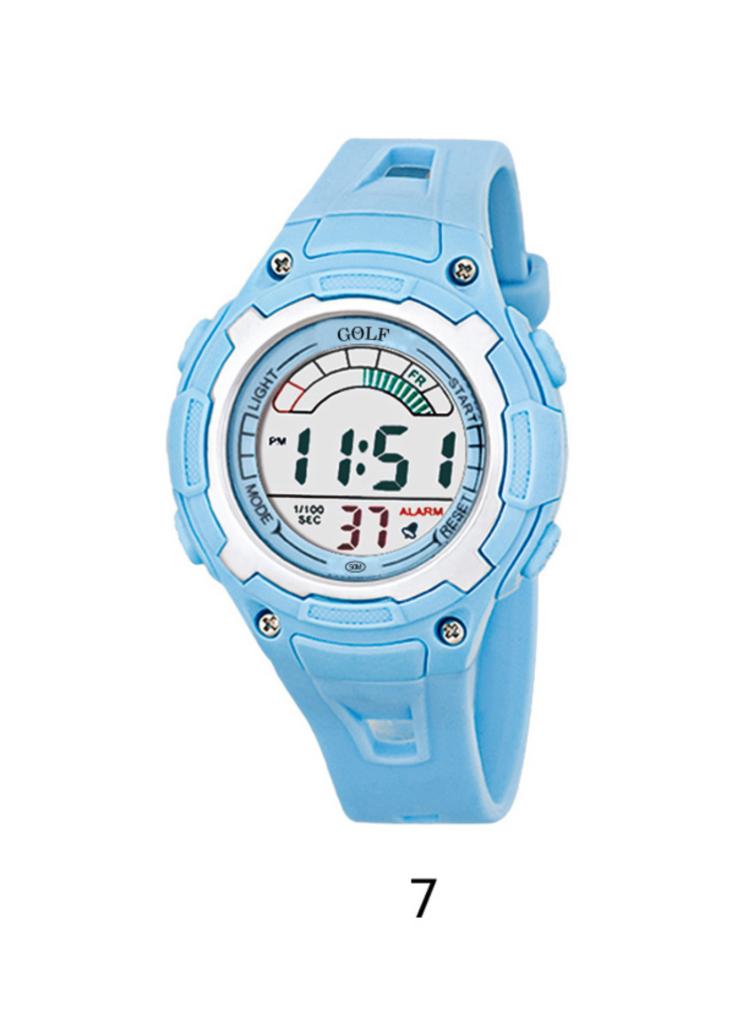8529019LBL שעון יד תכלת לילדים, מדגם גולף