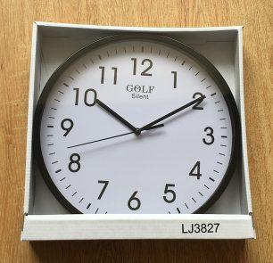 CLKSPLJ3827BL שעון קיר קלאסי מבית גולף - צבע שחור סטנדרטי לקיר החדר