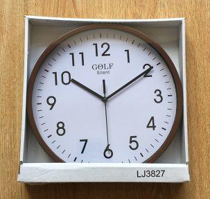 CLKSPL03BR שעון קיר קלאסי מבית גולף - צבע חום נעים לקיר החדר