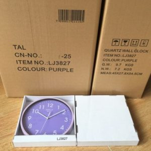 CLKSPL06PR שעון קיר קלאסי מבית גולף - צבע סגול נעים לקיר החדר