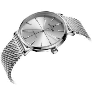 V8-108413 silver-1 Классические серебряные наручные часы для женщин от VECTOR שעון יד קלאסי לאשה צבע כסף מבית וקטור VECTOR
