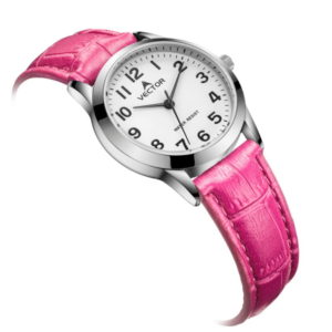 Классические розовые наручные часы от Vector V9-1015779-1 שעון יד קלאסי ורוד מבית וקטור דגם