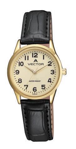 Наручные часы на кожаном ремешке женские марки VECTOR Праздничная коллекция наручных часов שעון יד עם רצועות עור לאשה מותג VECTOR קולקציית שעוני היד החגיגיים. דגם V9-101597 yellow