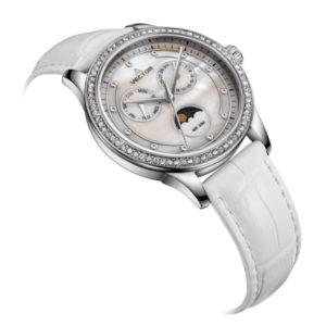 שעון יד נשי יפיפה בצבעי 'אם הפנינה' ממותג VECTOR. דגם VH9-0025136Q-pearl (1)-1 Красивые женские наручные часы в цвете Pearl Mother от бренда VECTOR