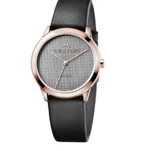 שעון יד לאשה בעיצוב מודרני נקי בעל רצועות עור שחורות מקולקציית קלין דיזיין 2020 שעוני VECTOR. דגם V9-011581 gray Престижные наручные часы от Golf Watches. Бренд vector для роскошных наручных часов в Израиле