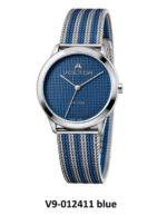 שעון יד מבית VECTOR, קולקציית 'כחולי השמיים' עיצוב שילוב מקסים של הכחול והכסוף בכל פרטי שעון היד היוקרי. דגם V9-012411 blue Высококлассные элегантные классические часы
